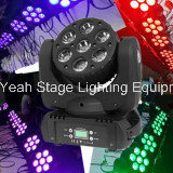 diodo emissor de luz Night Light de 7PCS 12W RGBW Moving Head