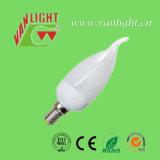 Forma CFL 9W de Tailer da vela (VLC-CDT-9W), lâmpada energy-saving