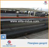 Асфальт Pavement Fiberglass Geogrids для взлётно-посадочная дорожки Foundation Dam Aiport