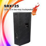 El sistema de sonido del PA Srx725 se dobla los altavoces de 15 pulgadas