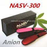 2016 neuf obtiennent le cheveu rapide de Nasv de redresseur de cheveu d'anion le balai que droit Anti-S'ébouillantent le balai statique de redresseur de cheveu avec l'écran LCD