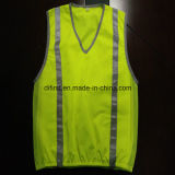 Modo Safety Vest con Refleective Tape 100%Polyester Trico Fabric