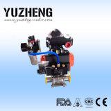 Válvula de esfera sanitária Dn80 da leiteria do tipo de Yuzheng