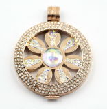 Le dernier IP Rose Stainless Steel Locket Pendant de Design avec Flower Coin Inside