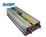 Suoer 12V 220V 2000W fuera de la red inversor con cargador de batería (HBA-2000C)