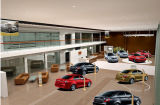Salle d'exposition moderne de bureau de mur de façade en verre Tempered du véhicule 4s