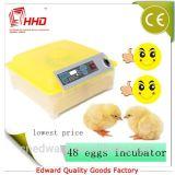 Petit prix complètement automatique transparent de machine d'établissement d'incubation de poulet