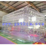 Pièce mobile transparente gonflable de tente de bulle/tente transparente gonflable extérieure commerciale de dôme