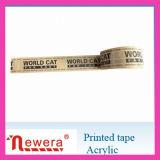 Le logo a imprimé la bande adhésive matérielle acrylique d'obligatoire de film de BOPP