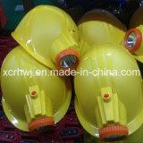 Casco di sicurezza di alta qualità della Cina con l'indicatore luminoso del LED per estrazione del carbone, casco estraente con l'indicatore luminoso protetto contro le esplosioni del LED, casco di sicurezza del minatore con il prezzo del faro del LED