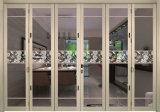Porte de pliage en aluminium de couleur grise de Matt pour le balcon