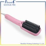 Cepillo de la enderezadora del pelo del anión