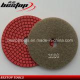 石のための明るく赤いぬれた適用範囲が広い磨くパッド
