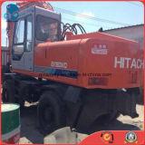 Japon-Faire l'excavatrice de pneu de Hitachi Ex160wd de Hydraulique-Pompe de l'Isuzu-Engine 6cylinders utilisée par 0.6cbm/16ton