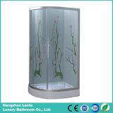 cabina de cristal impresa fibra de la ducha de 5m m (LTS-825M)