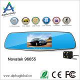 Автомобиль DVR зеркала Novatek 96655 видеокамеры автомобиля задний