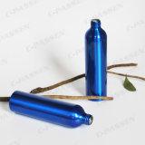 Frasco de alumínio azul da loção com a bomba plástica preta da loção (PPC-ACB-019)