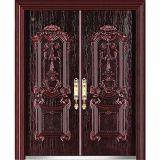 Porta de entrada principal de bronze de cobre do dobro da segurança da porta de entrada da prova da bala da porta