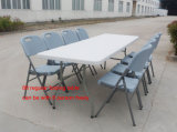 (HQ-C183) tabela de dobradura ao ar livre barata da restauração fácil plástica de 6FT