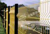 La palizada galvanizada del jardín del metal que cerca los paneles