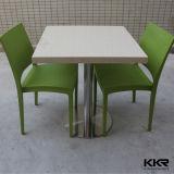 レストランの家具の石の白いダイニングテーブルおよび椅子