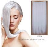prolonge de cheveu droit de cheveu de clips de la puce cinq une longue