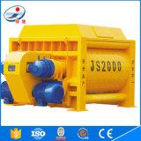Mezclador concreto gemelo de la fuente Js2000 de la fábrica de los ejes
