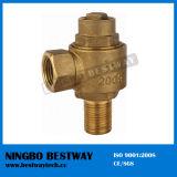 Válvula de bola de bronce del contador del agua