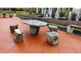 Mesa de jardín en forma especial hecha por piedra natural