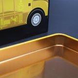 Bus geformte Blechdose/Metall können für Kinder (C005-V15)
