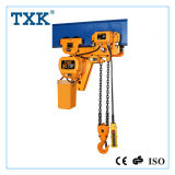 Alzamiento de cadena eléctrico de la oferta de Txk con el espacio libre inferior
