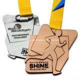 Medaglia personalizzata di sport di maratona di esecuzione del giapponese del metallo