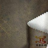 Poliéster 100% que bronzeia a tela da camurça para a tela de matéria têxtil da HOME do sofá