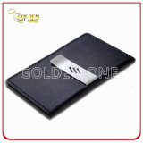 Cadeau d'entreprise de haute qualité Clip d'argent en cuir véritable