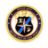 Moeda de ouro personalizada alta qualidade da polícia do xerife