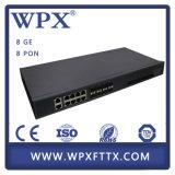 Equipo óptico Gepon de fibra 2 4 8 accesos Olt para la ISP