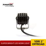 Luz cuadrada del trabajo del CREE 10W LED para la explotación minera del carro