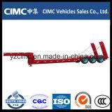 Cimc半2つの車軸空気中断が付いている低いベッドのトレーラー