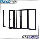 Puerta de plegamiento de aluminio del BI con el solo vidrio doble