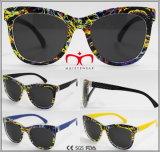 Metal Decoração Promoção Senhoras Óculos de sol (WSP609674)