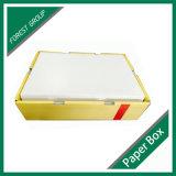 Caixa lustrosa da cereja do papel de impressão com indicador transparente