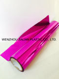 Rigid Metalized PVC Film / Sheet of Both Sides Purple Color para Garland Decorações