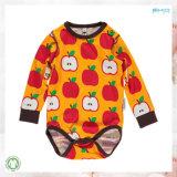 El bebé de la impresión de Apple arropa a niño Onesie del otoño del verano