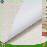 Home Textile Revêtue PVC imperméable à l'eau Tissu en rideau en polyester tissé noir