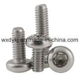 Edelstahl 304 sechs Vorsprung-Kontaktbuchse-Wannen-Kopf-Schrauben-Fabrik von China ISO 14583