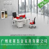 Form-doppelter seitlicher Büro-Arbeitsplatz-Büro-Schreibtisch mit patentiertem Rahmen
