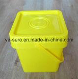 recipiente di plastica del quadrato del commestibile 5L con la maniglia