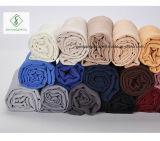 Châle de plaine de coton de TR avec Madame Fashion Scarf Factory de frange