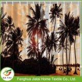 Desconto de campo de Luxo Praia da palmeira cortina de chuveiro