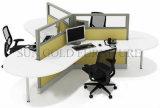 Moderner Entwurfs-Aluminiumrahmen-Glasbüro-Schreibtisch-Arbeitsplatz (SZ-WST796)